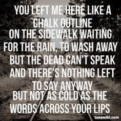 Three Days Grace- Chalk outline lyrics