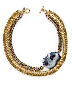 Multi Chain Agate Necklace