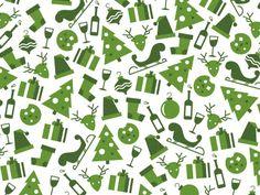 Green Holiday Pattern