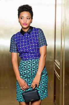 "blacknaturals: "" ♕ Kiersey Clemons "" ~ #Ankara #AfricanFashion"
