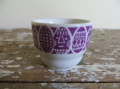 Arabia Egg Cup Raija Uosikkinen Blue by VintageShoppingSpree, Finland Egg Cups, Finland, Purple, Blue, Scandinavian, Tea Pots, Eggs, Pottery, Shapes