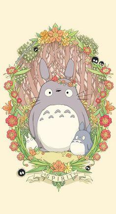 Flower Crown Totoro 18 x 24 PrintYou can find Totoro and more on our website.Flower Crown Totoro 18 x 24 Print Studio Ghibli Art, Studio Ghibli Movies, Hayao Miyazaki, Anime Kunst, Anime Art, Arte Sketchbook, Girls Anime, My Neighbor Totoro, Animation