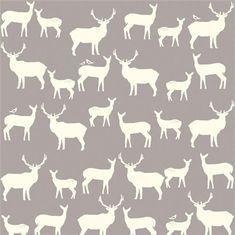 COTTON Elk Family Shroom HALF Yard Mod Basics by SunnysideFabrics