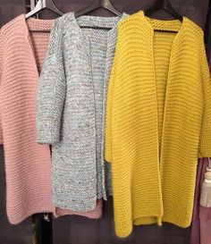 Sweater Knitting Patterns, Crochet Cardigan, Knit Crochet, Blazer Pattern, Casual School Outfits, Knitted Coat, Knit Jacket, Crochet Clothes, Knitwear