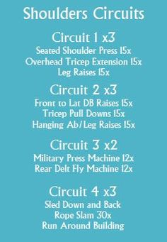 Shoulder Circuit