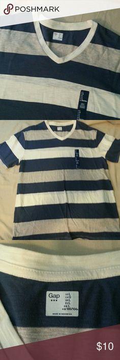 HOST PICK NEW GAP T'SHIRT New Blue/Cream/Gray Tee GAP Shirts Tees - Short Sleeve