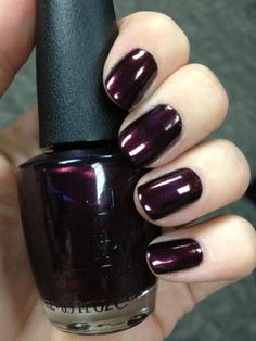 This gorgeous aubergine color makes me feel like a bond girl. #opi #nailsart - Nails of Parnell