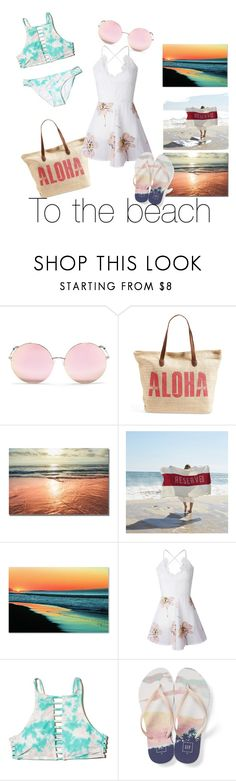 """#Vacation #Beach"" by loveclothes5 ❤ liked on Polyvore featuring Matthew Williamson, Rip Curl, Sir/Madam, Trademark Fine Art, WithChic, Hollister Co., Gap, beach and vacation"