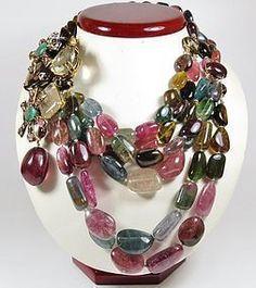 Iradj Moini, Tourmaline gemstone necklace brooch