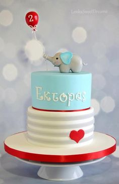 Birthday cake for a little boy.  by LenkaSweetDreams