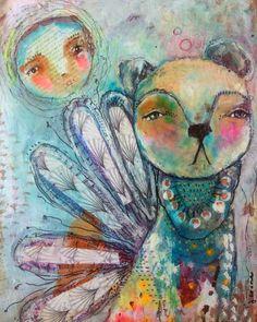 True Calling. By Juliette Crane. Http://juliettecrane.com #bear #mixedmedia #juliettecrane