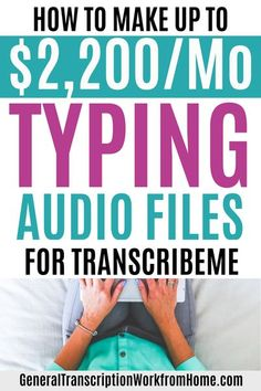 Make $15-$22 per audio hour typing audio files from home. TranscribeMe Has Work at Home Transcription Jobs for Beginners. No transcription experience required. This is a good transcription company for beginners. Read my review. #transcription #typingjobs Work From Home Moms, Work From Home Careers, Work From Home Companies, Work From Home Business, Business Ideas, Online Business, Transcription Jobs For Beginners, Earn Money From Home, Make Money Online