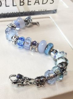 "Newest Trollbeads bracelet design in the store.  ""Rain."""