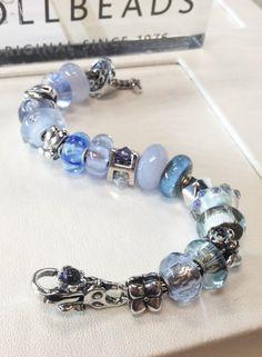 """Newest Trollbeads bracelet design in the store.  """"Rain."""""""