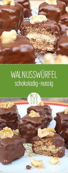 Walnut cubes 3 eggs, 60 g sugar 100 g ground walnut kernels, 1 tablespoon thick cheese . Christmas Sweets, Christmas Baking, Christmas Cookies, Walnut Kernels, German Cookies, Sweet Bread, Cakes And More, No Bake Cake, Sweet Recipes