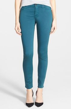 Hudson Jeans 'Nico' Mid Rise Super Skinny Jeans (Graphite Teal) available at #Nordstrom