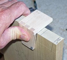 Mark the tails with the dovetail marker