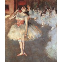 Artz Insight The Ballerinas of Degas ❤ liked on Polyvore featuring backgrounds, art, ballet, dance and painting