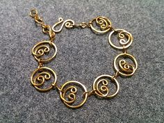 bangles circles - How to make wire jewelery 156 - YouTube