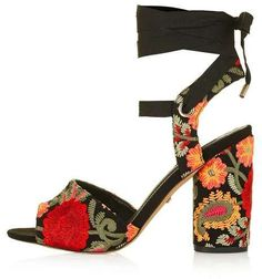 Royal embroidered sandals