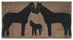 .look at this old hooked rug <3