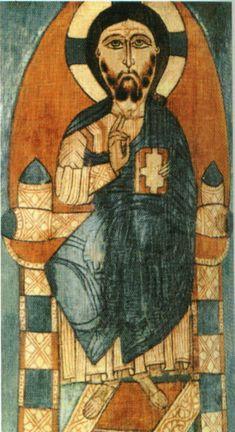 ХРИСТОС ПАНТОКРАТОР церковь св. Варвары в селении Хэ Сванетия 13 век