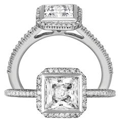 Ritani Bella Vita 18K White Gold & Diamond Semi Mount Engagement Ring