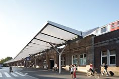 Bus Station Hamburg-Barmbek – Membrane canopy of inflated ETFE foil cushions