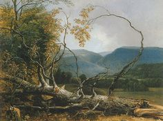 "Asher B. Durand's painting, ""Study from Nature, Stratton Notch, Vermont,"" oil on canvas, 18 by 23 3/4 inches, which I studied and sketched at the New York Historical Society."