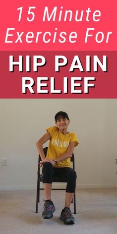 Hip Bursitis Exercises, Hip Mobility Exercises, Hip Strengthening Exercises, Bursitis Hip, Back Exercises, Hip Arthritis Exercises, Chair Exercises, Stretches, Health And Fitness Articles