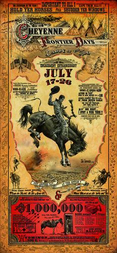 Resultado de imagen para cheyenne frontier days poster