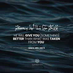 Quran Quotes Love, Quran Quotes Inspirational, Beautiful Islamic Quotes, Allah Quotes, Muslim Quotes, Religious Quotes, Reality Quotes, Life Quotes, Wisdom Quotes