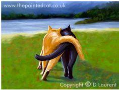 True love. Cat lovers find great paintings here: http://www.thepaintedcat.co.uk/feline_gallery/clancy-and-bandit.shtml