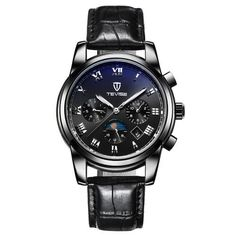 #TomTop - #TomTop TEVISE Luxury Water-Resistant Luminous Automatic Men Mechanical Watch Self-Winding Genuine Leather Man Business Wristwatch Masculino Relogio + Box - AdoreWe.com