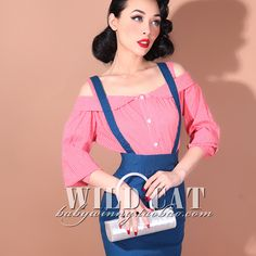 FREE SHIPPING Vintage pin up sweet all-match strapless puff sleeve loose cute shirt three quarter sleeve shirt 0.2kg $21,23