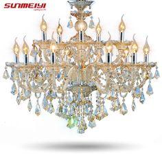 Modern Crystal Chandelier  Living Room lustres de cristal Decoration Tiffany Pendants and Chandeliers Home Lighting Indoor Lamp