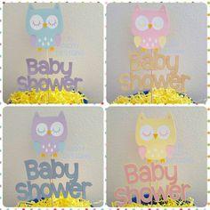 Buho con temática Baby SHOWER centro de mesa 2pc por IDPartyDesigns