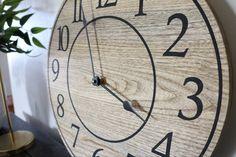 Handmade wooden wall clock. Solid Hackberry construction. Free shipping Handmade Clocks, Handmade Wooden, Construction, Free Shipping, Wall, Building, Walls