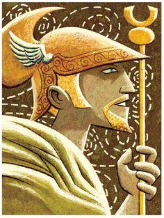 Greek Gods  Hermes 13 x 19 Print by glenmullaly on Etsy, $28.00