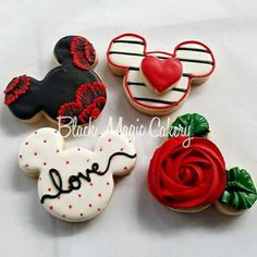 Mickey Valentines day cookies for your by BlackMagicCakery on Etsy