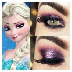 14 Easy Elsa-Inspired Makeup Looks All Frozen Fans Will Totally Obsess... ❤ liked on Polyvore featuring beauty products, makeup, eye makeup and eyeshadow