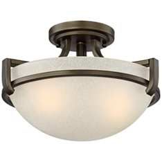 Tech lighting trace 23 12w pipe glass cfl ceiling light lighting mallot 13 wide oil rubbed bronze ceiling light aloadofball Image collections
