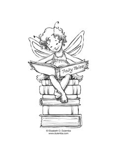 Reading Fairy - would love to get a print of this for sissy's room