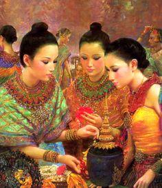 หญิงไทยแท้ๆ ภาพวาด - ดูบนมือถือ