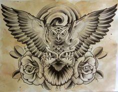 Owl #tattoo design.