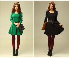 2012 Autumn Fashion Collection Dress 1573 - Dresses - korean japan fashion clothes dresses wholesale women