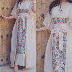 Make it into a kaftan ملابس Arab Fashion, Muslim Fashion, Modest Fashion, Girl Fashion, Fashion Dresses, Womens Fashion, Gothic Fashion, Mode Abaya, Mode Hijab
