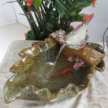 Folha de bordo é o de peixes de aquário de água fonte de cerâmica artesanato criativas decorações home enfeites enfeites marinha(China (Mainland))