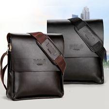 Men Leather bag Business black brown Briefcase Messenger Shoulder Bag Laptop Bag