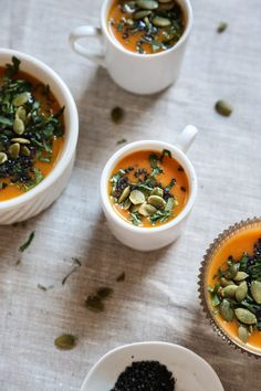 ... | Cream Soup Recipes, Roasted Cauliflower and Roasted Carrot Soup